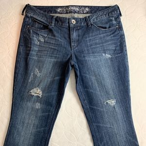 NWOT Express Ultra Skinny, size 12 distressed